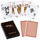 Plastové poker karty Professional - Hnědé
