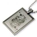 Ocelový přívěsek poker karta Srdcový Král