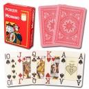 Modiano 4 rohy 100% plastové pokerové karty - Červené